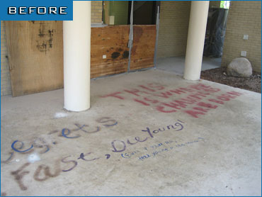 Before - Graffiti Removal