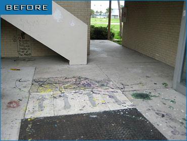 sandblasting - graffiti before