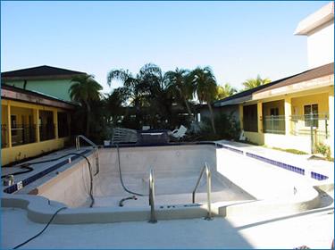 sandblasting pool